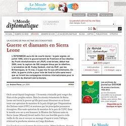 Guerre et diamants en Sierra Leone, par Andres Perez