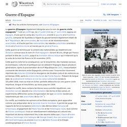 Guerre d'Espagne