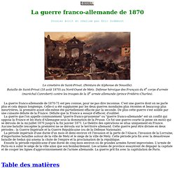 La guerre franco-allemande de 1870 (page 1)