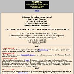 ANÁLISIS CRONOLÓGICO DE LA GUERRA DE INDEPENDENCIA