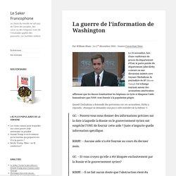 La guerre de l'information de Washington