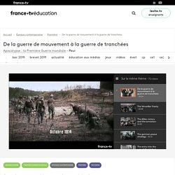 De la guerre de mouvement à la guerre de tranchées - Vidéo