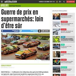 Guerre de prix en supermarchés: loin d'être sûr
