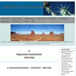 "La guerre de Sécession (""Civil War"") de 1861-1865"