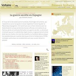 La guerre secrète en Espagne, par Daniele Ganser
