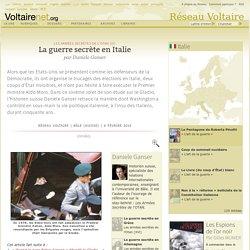 La guerre secrète en Italie, par Daniele Ganser