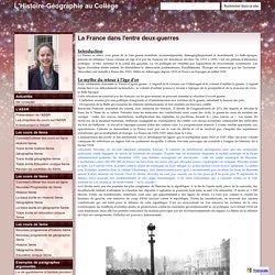 La France dans l'entre deux-guerres - L'Histoire-Géographie au Collège