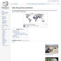 Liste des guerres modernes