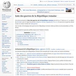 Liste des guerres de la République romaine