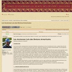 Voir le sujet - Les Anciennes Lois des Bretons Armoricains