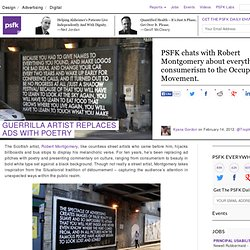 Guerrilla Artist Replaces Ads With Poetry