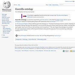 Guerrilla ontology
