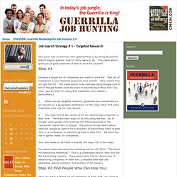 Guerrilla Job Hunting