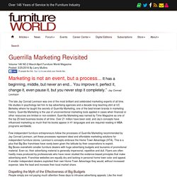 Guerrilla Marketing Revisited