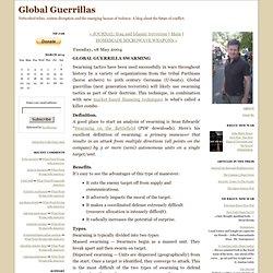 Global Guerrillas: GLOBAL GUERRILLA SWARMING