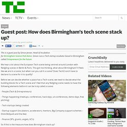 Guest post: How does Birmingham's tech scene stack up?