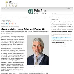 Guest opinion: Keep Calm and Parent On