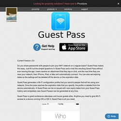 Guest Pass for WiFi and iOS