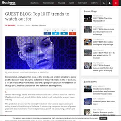 GUEST BLOG: Top 10 IT trends to watch out for