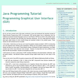 GUI Programming - Java Programming Tutorial