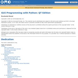 GUI Programming with PyQT