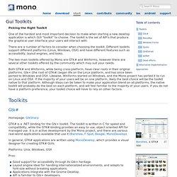 Gui Toolkits - Mono