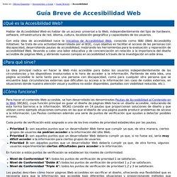 Guía Breve de Accesibilidad Web