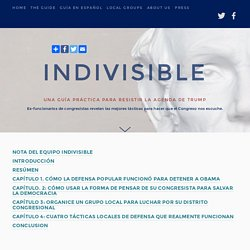Guía Indivisible — Indivisible Guide