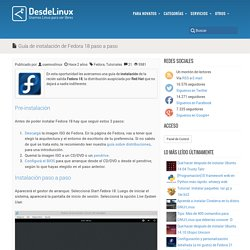 Guía de instalación de Fedora 18 paso a paso