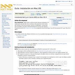 Guía: Instalación en Mac OS - Nxt Wiki