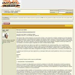 Guía para usar Calibre - DVDaDVD±R
