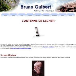 Bruno Guibert, Naturopathe, Iridologue.