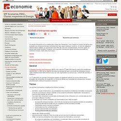 Liste des guichets d'entreprises agréés - Guichets d'entreprises agréés