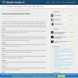 Guida ai formati per ebook reader