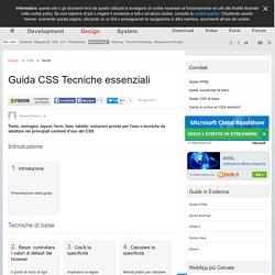 Guida CSS: le Tecniche Essenziali