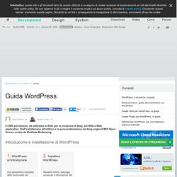 Guida WordPress | Guide CMS