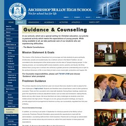 Molloy High School Guidance & Counseling Program