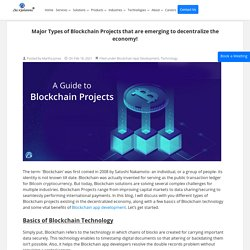 Guidance on types of Blockchain projects that are emerging