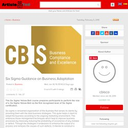 Six Sigma Guidance on Business Adaptation