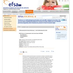 EFSA 17/04/13 Guidance on methodological principles and scientific methods to be taken into account when establishing Reference