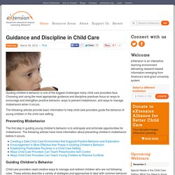 Guidance and Discipline in Child Care