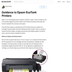 Guidance to Epson EcoTank Printers