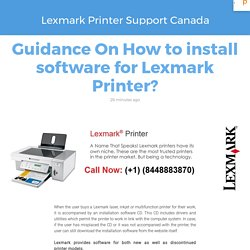 Guidance On How to install software for Lexmark Printer?