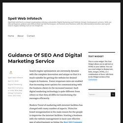Guidance Of SEO And Digital Marketing Service – Spell Web Infotech