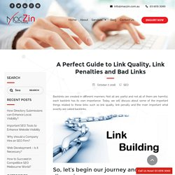 Need Guidance on Link Quality, Link Penalties and Bad Links?