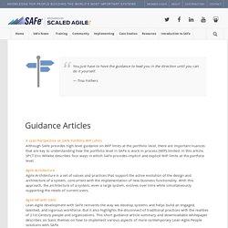 Guidance – Scaled Agile Framework