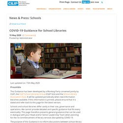 COVID-19 Guidance for School Libraries