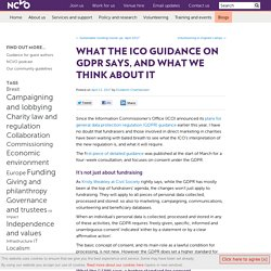 What the ICO guidance on GDPR says, and what we think about it
