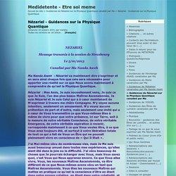 Nézariel - Guidances sur la Physique Quantique - Medidetente - Etre soi meme