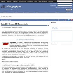 Guide 2015 du web : CDI-Documentation